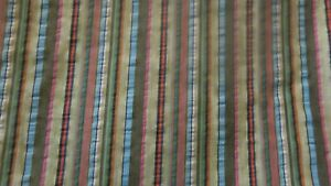 MISAN Green Striped Fabric 3.8m