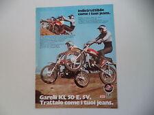 advertising Pubblicità 1975 MOTO GARELLI KL 50 E 5V