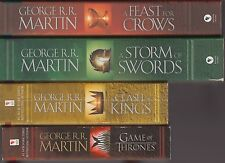 A Song of Ice and Fire GAME OF THRONES Books 1-4 George R R Martin 2 sc 2 pb lot