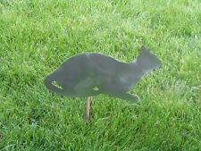 Cat kitty feline yard garden stake metal art #4