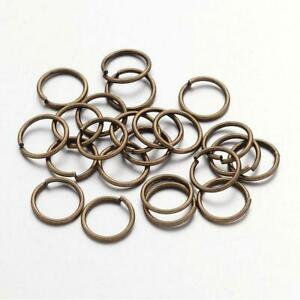 Packet of 350+ Antique Bronze Plated Iron 0.7 x 8mm Jump Rings