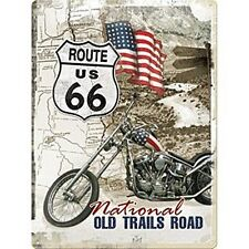 Route 66 Old Trails Road embossed metal sign    (na 3040)