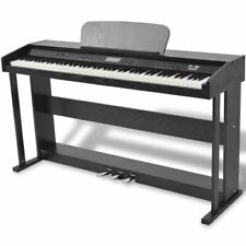 vidaXL Digitale Piano met Pedalen Zwart Melamine 88 Toetsen Keyboard Digitaal
