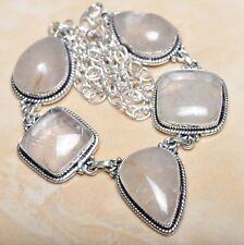 "Handmade Natural Rutilated Quartz Jasper 925 Sterling Silver Necklace 21"" N00558"