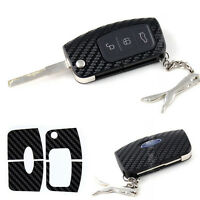 1 Key Fob Carbon Fibre Style Effect Car Sticker Cover Shell Decal For FORD FOCUS