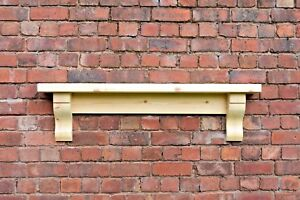 Chunky Solid Pine Mantle /  Pine mantel shelf with Corbels / plus made measure