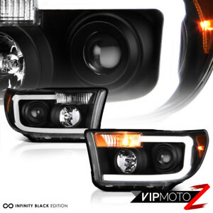 For 07-13 Toyota Tundra [Cyclop Optic] Neon Tube Black Projector Headlight Lamp