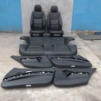 BMW 3 SERIES E90 Black Leather Interior Seats with Airbag and Door Cards