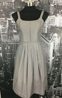 Cue Dress, Size 6, Grey / Silver. Fit & Flared.