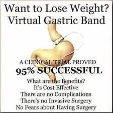 VIRTUAL GASTRIC BAND HYPNOSIS CD - NO DIET WEIGHT LOSS SURGERY, HEALTH FITNESS