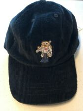 49e1be95afa8f Polo Ralph Lauren Kids Black Skiing Ski Bear Corduroy Dad Hat Cap Sz 8-20