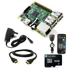 8GB Media Centre with Raspberry Pi 3 1GB Quad Core IR Remote K0DI Openelec