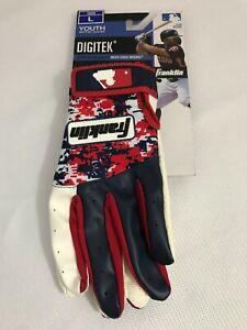 Franklin Sports MLB Digitek Batting Glove Youth Large - USA. New With Tags.