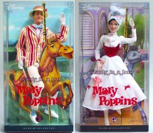 "Mary Poppins Barbie Doll Bert Ken Doll Collector Disney"" Lot 2 CK"