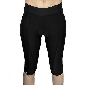 Netti Pro Capri 3/4 Womens Cycling Shorts - Black