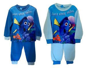 Disney Finding Dory Pyjama Set Blue Unisex Kids Nightwear Soft Fleece Loungewear
