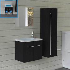 Waschbeckenunterschrank Schwarz Badmöbel Waschtisch Handwaschbecken Gäste WC