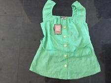 NWT Juicy Couture New & Gen. Ladies Small Green Cotton Maternity Top UK 8/10