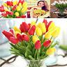 10/20pcs PU Mini Tulip Flower Real Touch Wedding Silk Flower Bouquet Home Decor