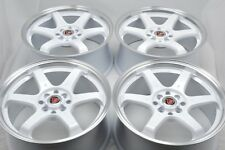 17 white Wheels CL Civic Miata Accord Corolla XB Cooper Spark 4x100 4x114.3 Rims