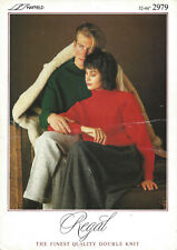 HAYFIELD Regal 2979 DK Unisex2979 Sweater Knitting Pattern **FREE P&P**