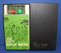 Lyman Golf Dice at Pebble Beach Game Mint NOS 1968 Mint Boxed