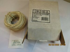 Nutone IW-2-100-UL Intercom Systems Installation Cable 100' Twisted Pair
