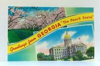 Georgia Greetings From The Peach State Postcard