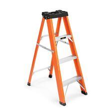 VonHaus 3 1 Tread Fibreglass Ladder - Folding Steps