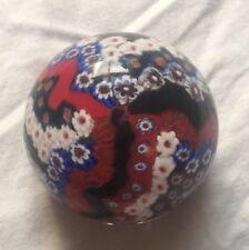 """Murano Antica Murrina Veneziana Art Glass Milliefiori Paperweight 2"""""""