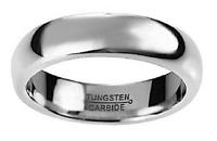 MENS / WOMENS CLASSIC RETRO SILVER TUNGSTEN WEDDING RING - 5mm Wide