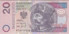 POLAND BANKNOTE P#173  20 ZLOTYCH  1994  UNCIRCULATED  USA SELLER