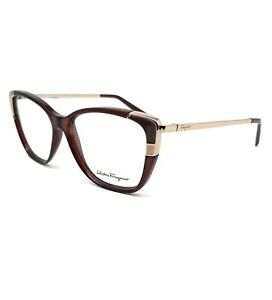 Salvatore Ferragamo Eyeglasses SF2811 210 Brown Rectangle Women 54x14x140