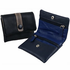 Ladies Quality Soft Leather Small Compact Coin Purse Wallet By Golunski