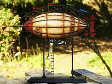 Tinplate 19th Century Airship Model - Handmade - Balloon - Zeppelin - Steampunk