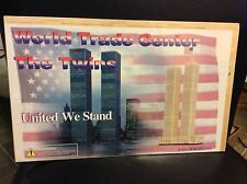 World Trade Center Twin Towers NYC 3-D Balsa Wood Puzzle model   New Ages 5+