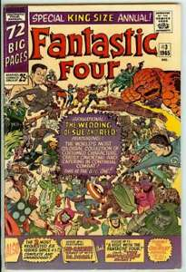 FANTASTIC FOUR ANNUAL #3 5.5 // REPRINTS SEVERAL EARLY FF STORIES MAVEL 1965