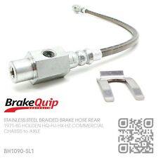 BRAIDED BRAKE HOSE REAR DIFF [HOLDEN HQ-HJ-HX-HZ UTE/VAN/ONE TONNER/SANDMAN] SL