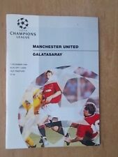 MANCHESTER UNITED v GALATASARAY 1994-95 CHAMPIONS LEAGUE PROGRAMME