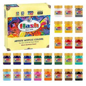 Flash Multicolor Acrylic Paint Set 25 Colores 50ML Cada