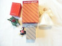 AVON Lot of 3 Assorted Vintage Christmas Ornaments with Boxes