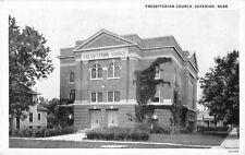 c1920 Presbyterian Church, Superior, Nebraska Postcard