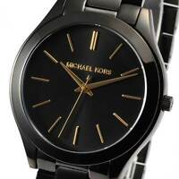 Michael Kors MK3221 Slim Runway Black Tone Ion-plated Watch MK3221