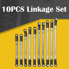 METAL Linkage+Plastic Rod End Set 10PCS For AXIAL SCX10 II 90046 RC Crawler Car