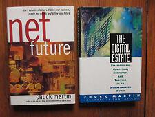 2-CHUCK MARTIN  Signed Books(NET FUTURE/THE DIGITAL ESTATE-1st Edition Hardbacks