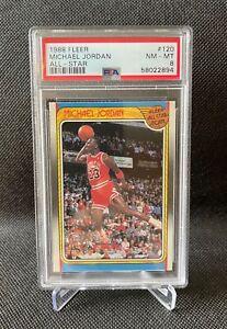 1988 FLEER #120 MICHAEL JORDAN ALL-STAR PSA 8 BEAUTY! Chicago Bulls