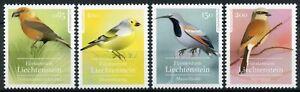 Liechtenstein Birds on Stamps 2021 MNH Native Songbirds Finches Shrikes 4v Set