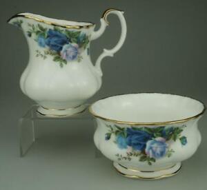 Moonlight Rose by Royal Albert Creamer or Milk Jug and Open Sugar Bowl ZE185