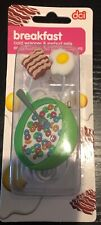 DCI Earbuds BREAKFAST Cord Wrapper & Earbuds Set Bacon Eggs Cereal New Sealed
