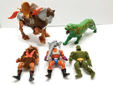 Vintage MOTU Battle Cat Stridor Moss Man Grizzlor Snout Spout Action figure Lot